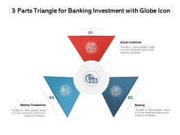 3 Parts Triangle For Banking Investment With Globe Icon