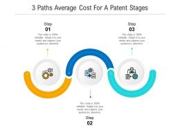 3 Paths Average Cost For A Patent Stages Infographic Template