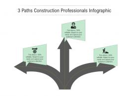 3 Paths Construction Professionals Infographic Template