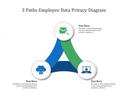 3 Paths Employee Data Privacy Diagram Infographic Template