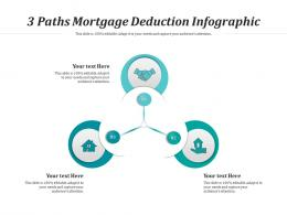 3 Paths Mortgage Deduction Infographic Template