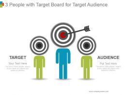 3 People With Target Board For Target Audience Sample Ppt Presentation