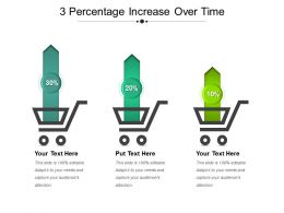 3 Percentage Increase Over Time Powerpoint Slide Show