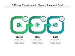 3 Phase Timeline With Search Idea And Goal