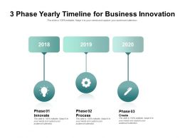 3 Phase Yearly Timeline For Business Innovation