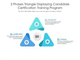 3 Phases Triangle Displaying Candidate Certification Training Program
