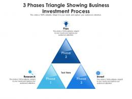 3 Phases Triangle Showing Business Investment Process