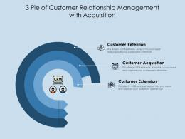3 Pie Of Customer Relationship Management With Acquisition
