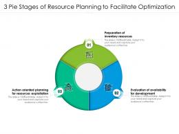 3 Pie Stages Of Resource Planning To Facilitate Optimization