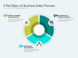 3 Pie Steps Of Business Sales Process