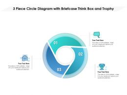 3 Piece Circle Diagram With Briefcase Think Box And Trophy