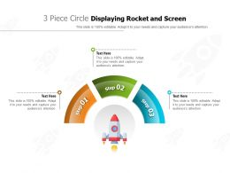 3 Piece Circle Displaying Rocket And Screen