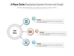 3 Piece Circle Displaying Speaker Screen And Graph