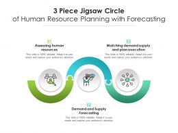 3 Piece Jigsaw Circle Of Human Resource Planning With Forecasting
