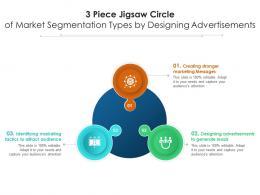 3 Piece Jigsaw Circle Of Market Segmentation Types By Designing Advertisements