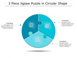 3 Piece Jigsaw Puzzle In Circular Shape