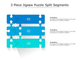 3 Piece Jigsaw Puzzle Split Segments