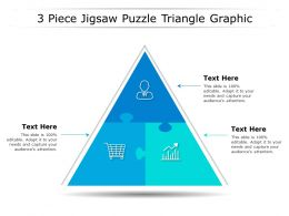 3 Piece Jigsaw Puzzle Triangle Graphic