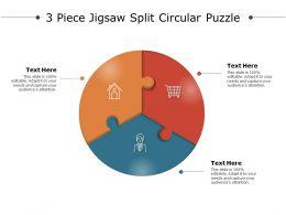 3 Piece Jigsaw Split Circular Puzzle