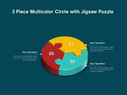3 Piece Multicolor Circle With Jigsaw Puzzle
