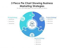 3 Piece Pie Chart Showing Business Marketing Strategies