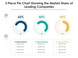 3 Piece Pie Chart Showing The Market Share Of Leading Companies