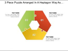3 Piece Puzzle Arranged In A Heptagon Way As Seven Piece With Empty Centre