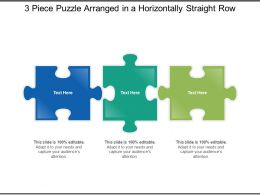 3 Piece Puzzle Arranged In A Horizontally Straight Row