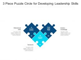 3 Piece Puzzle Circle For Developing Leadership Skills