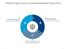 3 Piece Puzzle Circle To Increase Employee Productivity