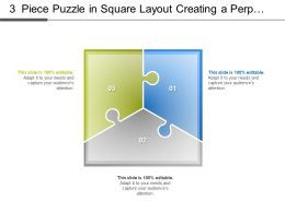 3 Piece Puzzle In Square Layout Creating A Perplexity Of Process