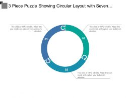 3 Piece Puzzle Showing Circular Layout With Seven Categories Of Icon Option3