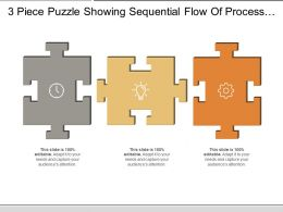 3 Piece Puzzle Showing Sequential Flow Of Process With Respective Icon