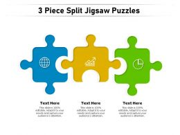 3 Piece Split Jigsaw Puzzles