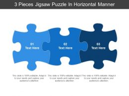 3 Pieces Jigsaw Puzzle In Horizontal Manner