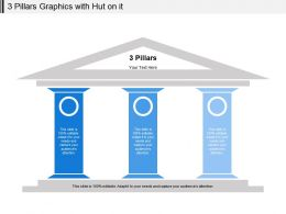 3 Pillars Graphics With Hut On It