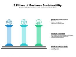 3 Pillars If Business Sustainability