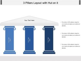 3 Pillars Layout With Hut On It
