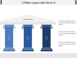 3 Pillars Layout With Hut On It