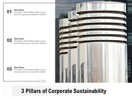 3 Pillars Of Corporate Sustainability