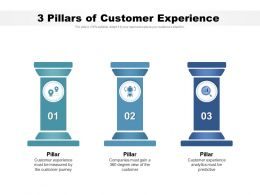 3 Pillars Of Customer Experience