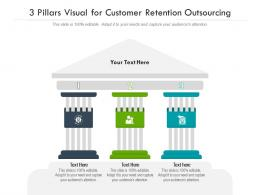3 Pillars Visual For Customer Retention Outsourcing Infographic Template