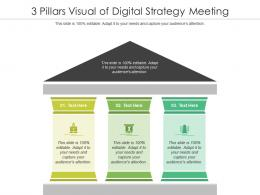 3 Pillars Visual Of Digital Strategy Meeting Infographic Template