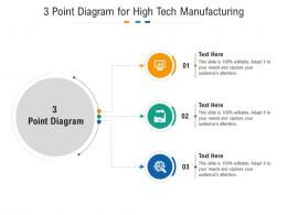 3 Point Diagram For High Tech Manufacturing Infographic Template