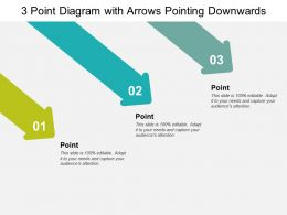 3 Point Diagram With Arrows Pointing Downwards