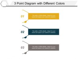 3 Point Diagram With Different Colors