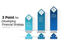 3 Point For Developing Financial Strategy