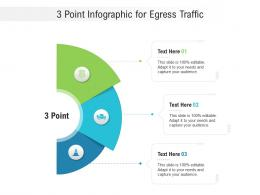 3 Point For Egress Traffic Infographic Template