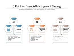 3 Point For Financial Management Strategy