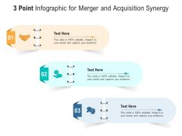 3 Point For Merger And Acquisition Synergy Infographic Template